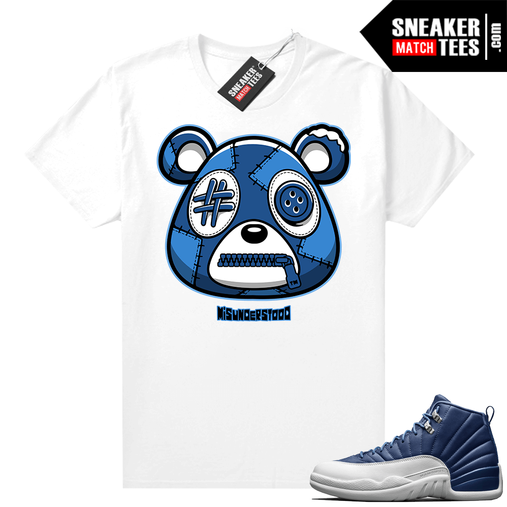 Misunderstood Bear ™ Indigo 12s Match Tees White