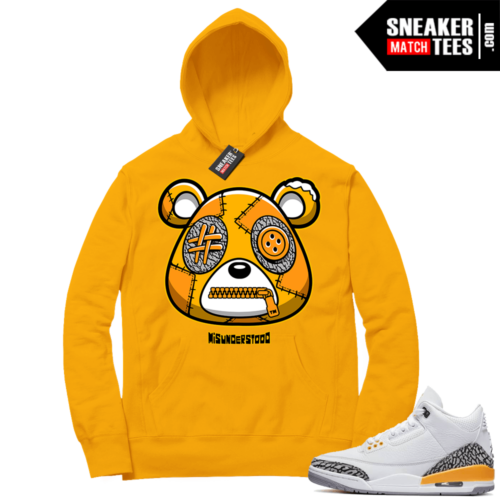 Misunderstood Bear ™ Laser Orange 3s Hoodie Gold