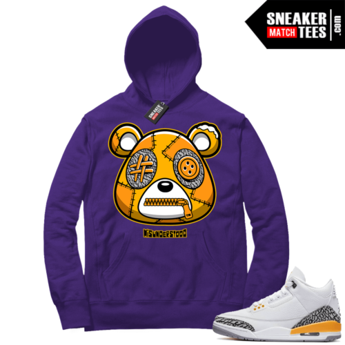 Misunderstood Bear ™ Laser Orange 3s Hoodie Purple
