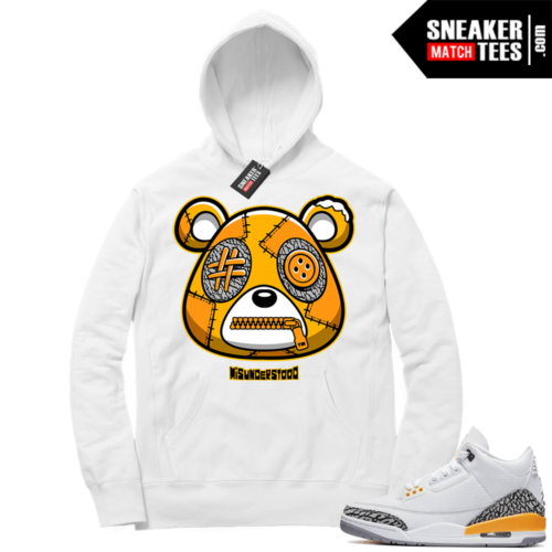 Misunderstood Bear ™ Laser Orange 3s Hoodie White