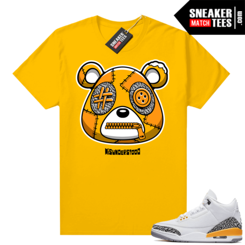 Misunderstood Bear ™ Laser Orange 3s Match Tees Gold