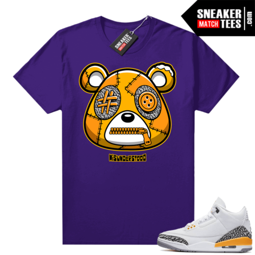 Misunderstood Bear ™ Laser Orange 3s Match Tees Purple