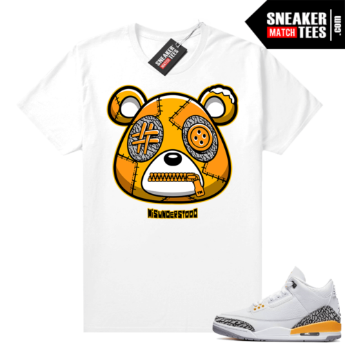 Misunderstood Bear ™ Laser Orange 3s Match Tees White