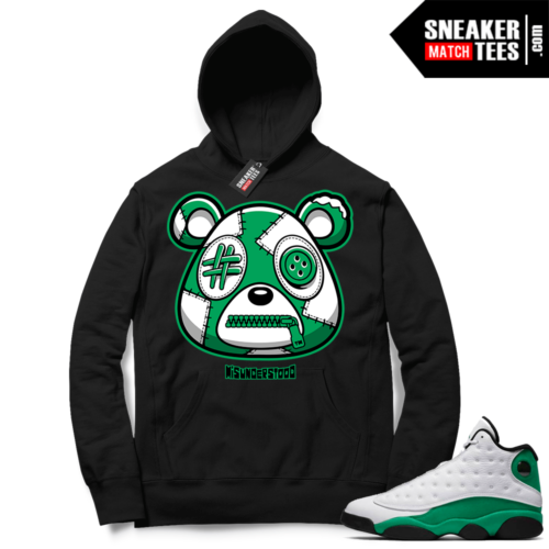 Misunderstood Bear ™ Lucky Green 13s Hoodie Black