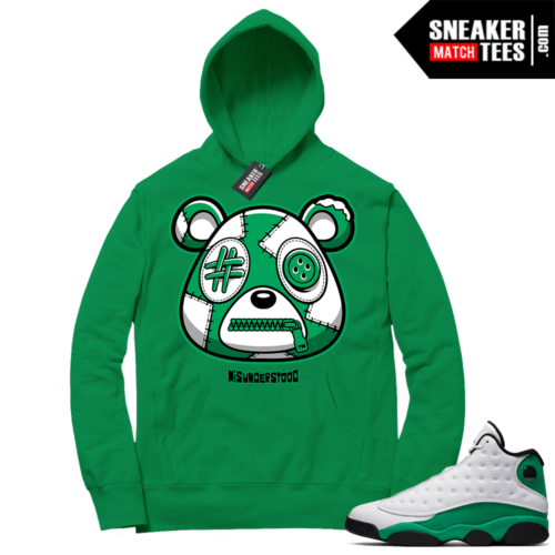 Misunderstood Bear ™ Lucky Green 13s Hoodie Green
