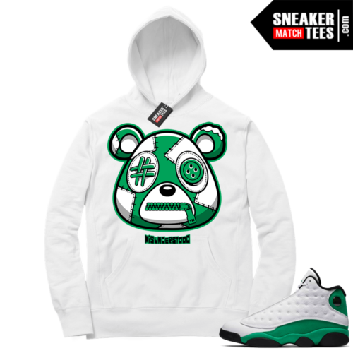 Misunderstood Bear ™ Lucky Green 13s Hoodie White