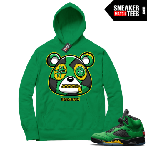 Misunderstood Bear ™ Oregon 5s Hoodie Green