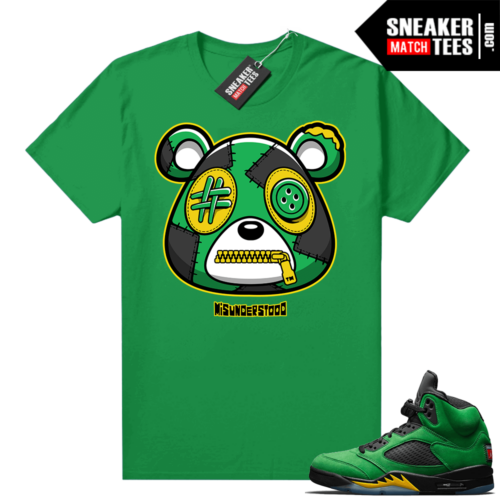 Misunderstood Bear ™ Oregon 5s Match Tees Green