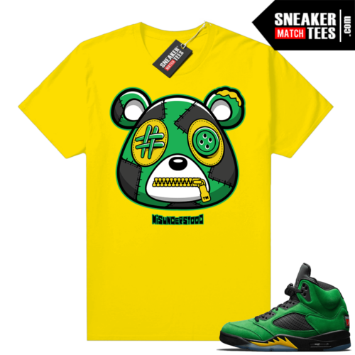 Misunderstood Bear ™ Oregon 5s Match Tees Yellow