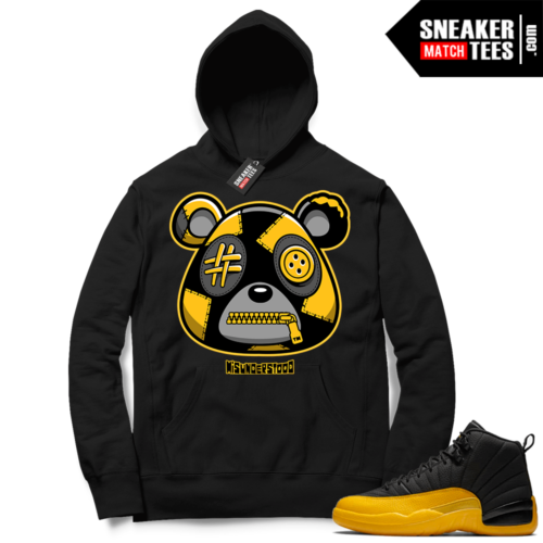 Misunderstood Bear ™ University Gold 12s Hoodie Black