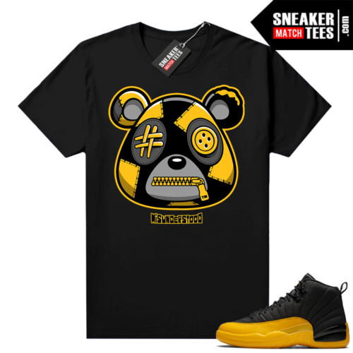 Misunderstood Bear ™ University Gold 12s Match Tees Black