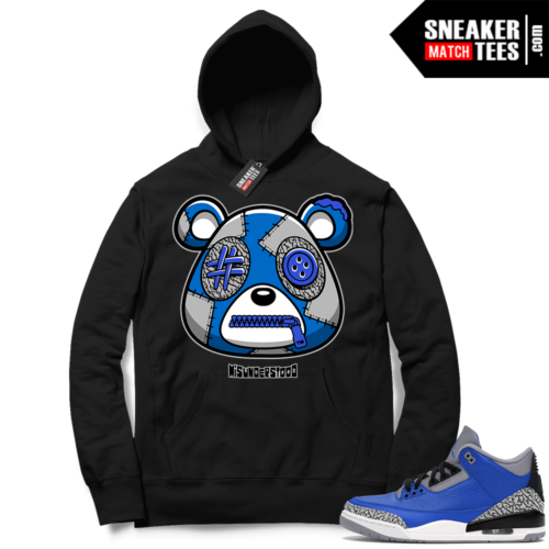 Misunderstood Bear ™ Varsity Royal 3s Hoodie Black