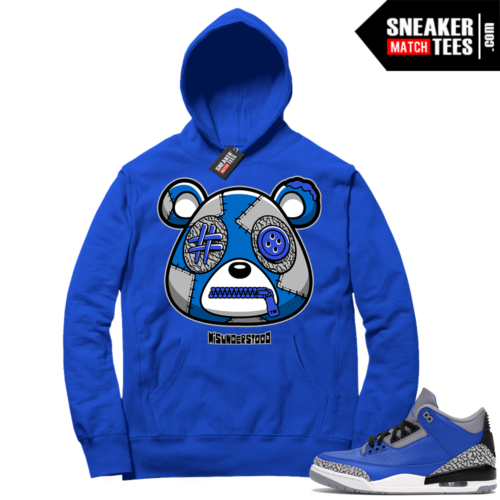 Misunderstood Bear ™ Varsity Royal 3s Hoodie Royal