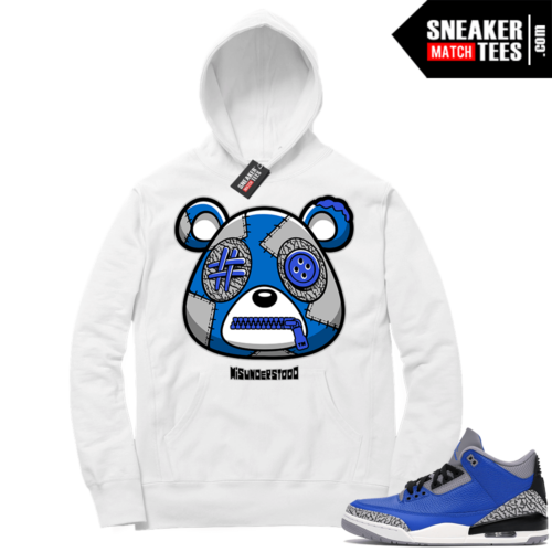 Misunderstood Bear ™ Varsity Royal 3s Hoodie White