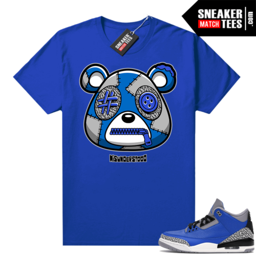 Misunderstood Bear ™ Varsity Royal 3s Match Tees