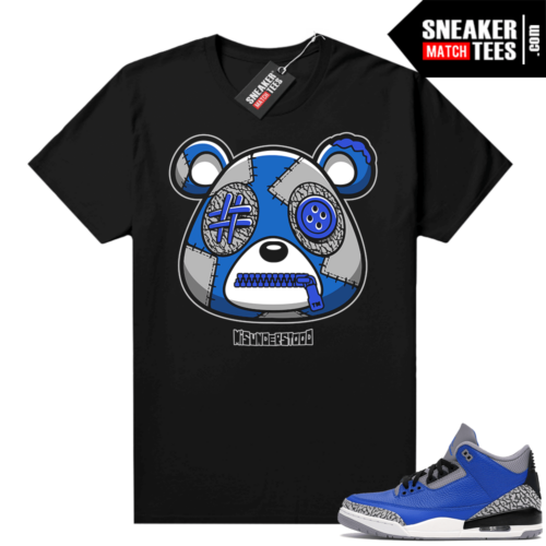 Misunderstood Bear ™ Varsity Royal 3s Match Tees Black
