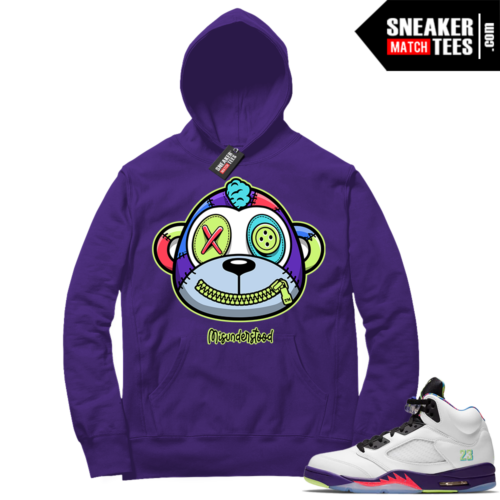 Misunderstood Monkey Bel Air 5s Purple Hoodie
