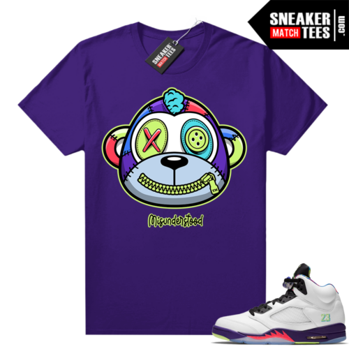 Misunderstood Monkey Bel Air 5s Purple shirt
