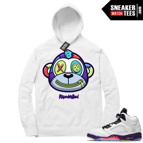Misunderstood Monkey Bel Air 5s White Hoodie