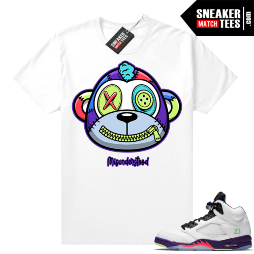 Misunderstood Monkey Bel Air 5s White shirt