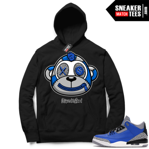 Misunderstood Monkey Blue Cement 3s Black Hoodie