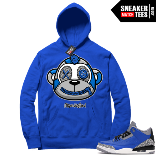 Misunderstood Monkey Blue Cement 3s Royal Hoodie
