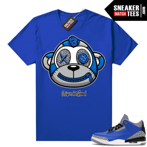 Misunderstood Monkey Blue Cement 3s Royal Shirt