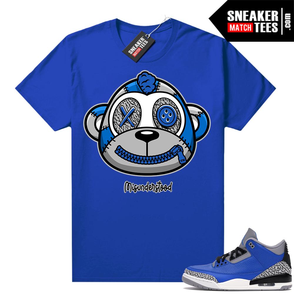 Misunderstood Monkey Blue Cement 3s Royal Shirt