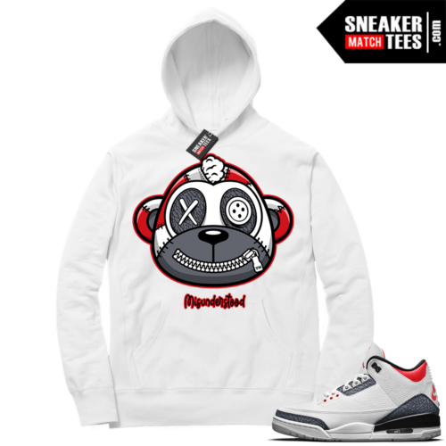 Misunderstood Monkey Denim 3s White Hoodie