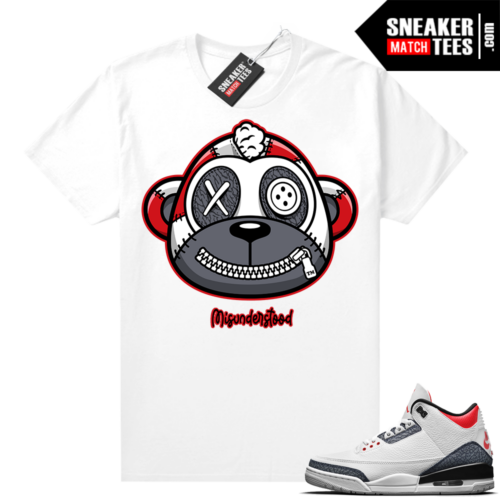 Misunderstood Monkey Denim 3s White Shirt