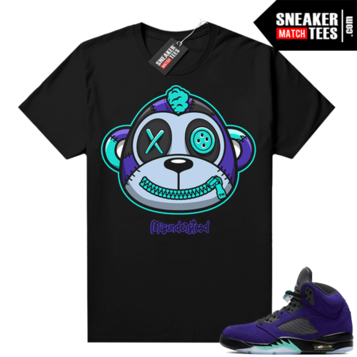 Misunderstood Monkey Grape 5s Black shirt