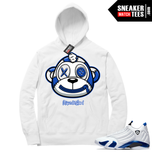 Misunderstood Monkey Hyper Royal 14s White Hoodie