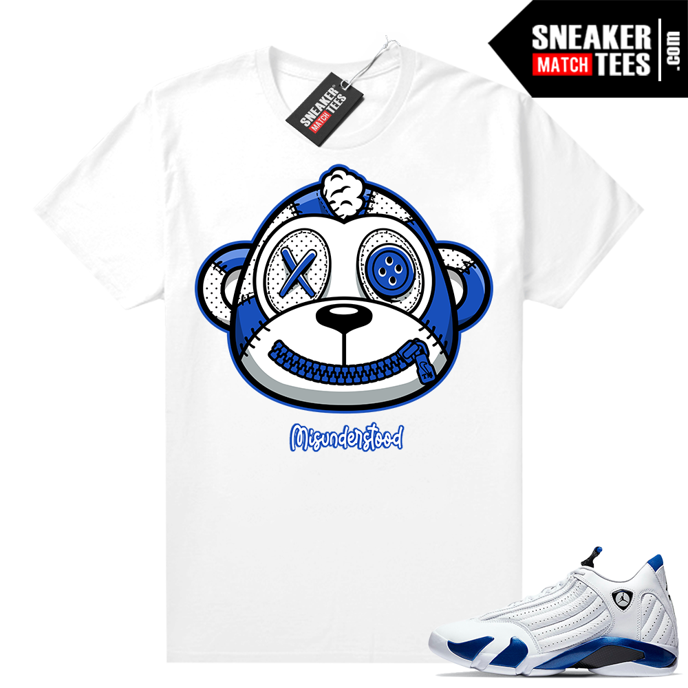 Misunderstood Monkey Hyper Royal 14s White Shirt