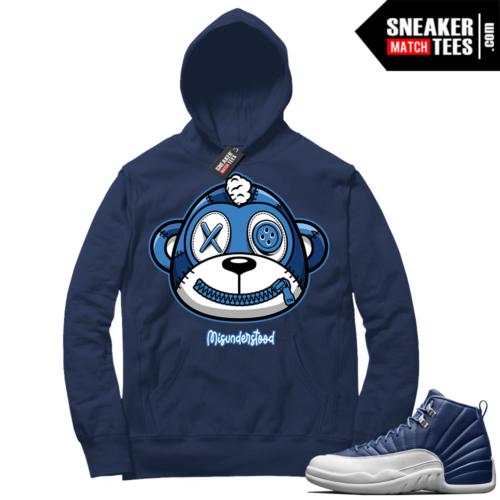 Misunderstood Monkey Indigo 12s Navy Hoodie