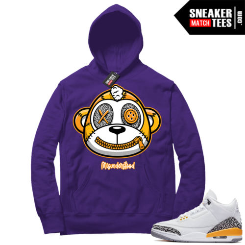 Misunderstood Monkey Laser Orange 13s Purple Hoodie
