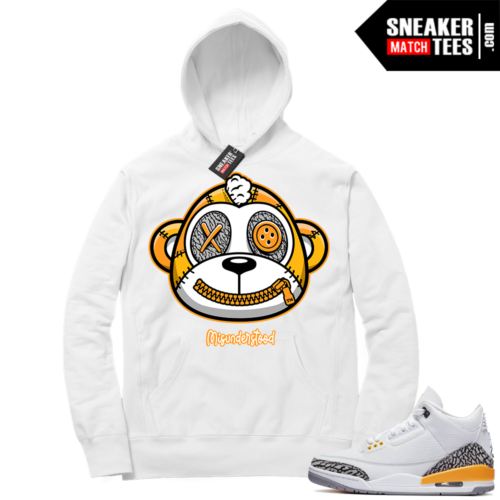 Misunderstood Monkey Laser Orange 3s White Hoodie
