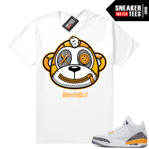 Misunderstood Monkey Laser Orange 3s White Shirt