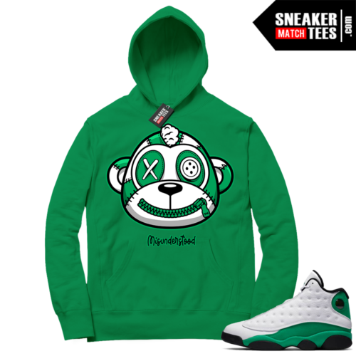Misunderstood Monkey Lucky Green 13s Green Hoodie