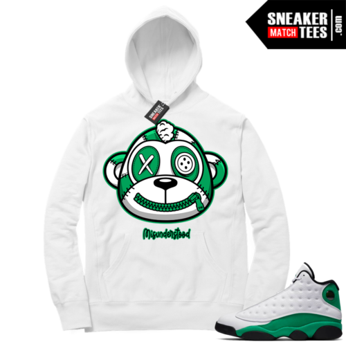 Misunderstood Monkey Lucky Green 13s White Hoodie