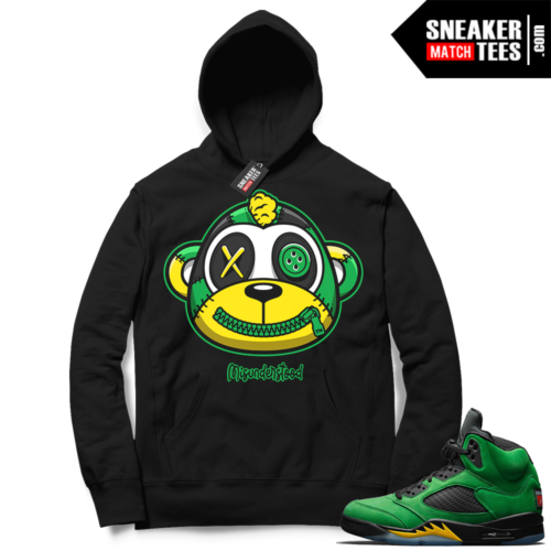 Misunderstood Monkey Oregon 5s Black Hoodie