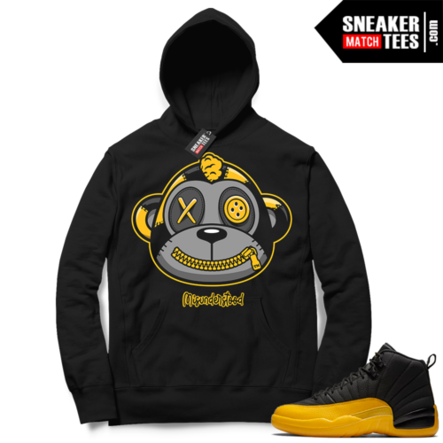 Misunderstood Monkey University Gold 12s Black Hoodie