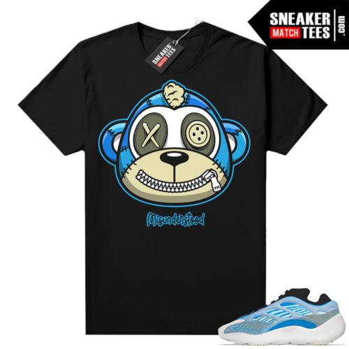 Misunderstood Monkey Yeezy 700 V3 Arzareth Black shirt