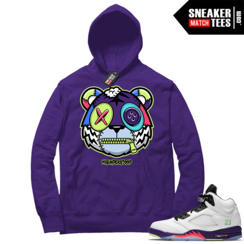 Misunderstood Tiger ™ Alternate Bel Air 5s Purple Hoodie
