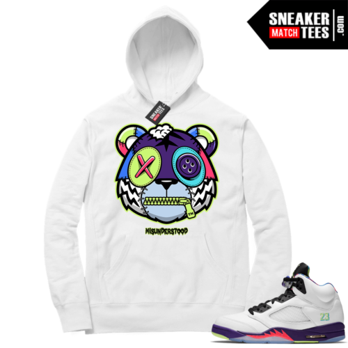 Misunderstood Tiger ™ Alternate Bel Air 5s White Hoodie