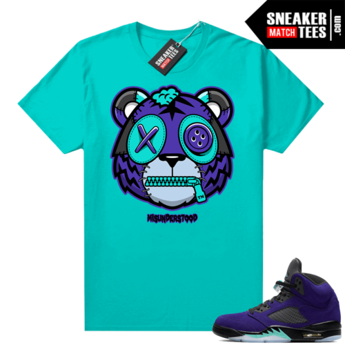 Misunderstood Tiger ™ Alternate Grape 5s Aqua Sneaker Match Tees