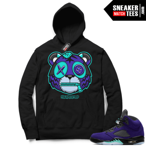 Misunderstood Tiger ™ Alternate Grape 5s Black Hoodie