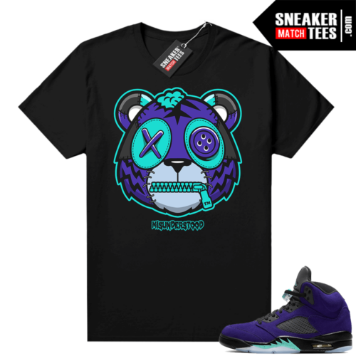 Misunderstood Tiger ™ Alternate Grape 5s Black Sneaker Match Tees
