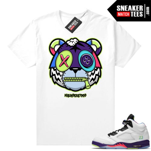 Misunderstood Tiger ™ Bel Air 5s White Sneaker Match Tees