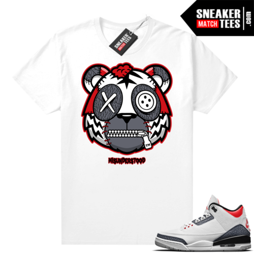 Misunderstood Tiger ™ Denim 3s White Sneaker Match Tees