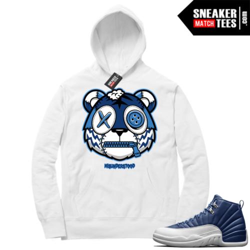 Misunderstood Tiger ™ Indigo 12s White Hoodie